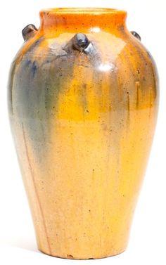 NC Pottery C.R. Auman Pinch Handle Vase  (attributed) circa 1930