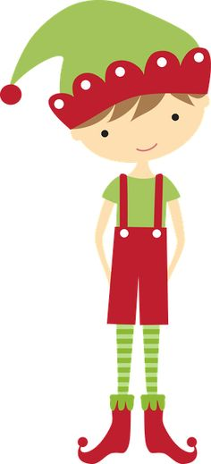CHRISTMAS BOY ELF CLIP ART