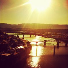 beautiful Chattanooga Tennessee and the TN river & bridges. love my city