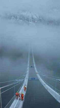 "The Norway Sky Bridge. I'd like to go see it but I don't need to go on it. As in ""no way in hell""!!!"