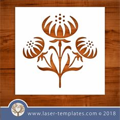 Add this flower stencil to your interior decor / craft range. Cut out of Mylar / BoPET / PETG. Files available in AI, CDR, SVG, PDF, DXF and EPS Stencil Templates, Stencils, Flower Svg, Pop Up Cards, Kirigami, Spring Flowers, Laser Cutting, Decor Crafts, Sewing Projects
