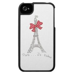 Paris...Je t'aime Iphone 4 Cases by Girly Template
