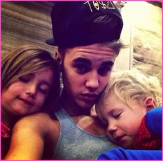 Justin Bieber Spends Thanksgiving With His Little Brother And Sister