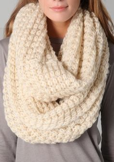 chunky knit scarf for the cold!