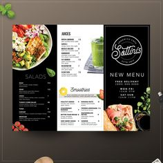 SANDWICH CAFE MENU We are a modern sandwich cafe. we use the best ingredients to deliver the best sandwiches in a great atmosphere where yo Cafe Menu Design, Menu Card Design, Food Menu Design, Food Poster Design, Stationery Design, Brochure Design, Menu Restaurant, Restaurant Design, Restaurant Identity