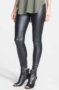 Hue 'Leatherette' Leggings available at #Nordstrom