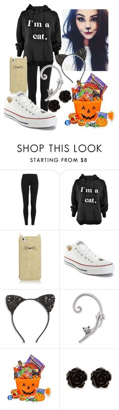 """""""Just in case no one knows what you are 🐱"""" by shelbymelissa ❤ liked on Polyvore featuring Polo Ralph Lauren, Kate Spade, Converse, Cara and Erica Lyons"""
