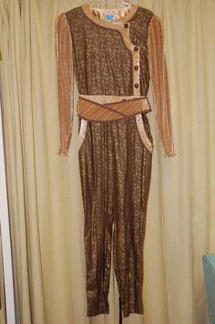 Fabulous 70's/80's Jeanne Marc Jump Suit..