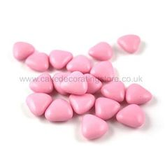 Pink Chocolate Heart Shaped Dragees