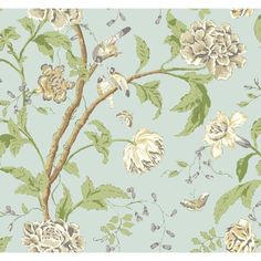 """Carey Lind Vibe Teahouse Removable 27' x 27"""" Floral Wallpaper"""