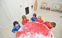 LL Nursery - interior design made by SYAA Bucharest, Nursery Design, Playground, Children, Kids, Beach Mat, Kindergarten, Outdoor Blanket, Interior Design