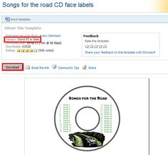 labels and templates for cd mixes