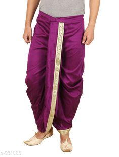 Dhotis, Mundus & Lungis Trendy Men's Ethnic Dupion Solid Dhoti Fabric: Dupion  Size: Up To 28 in To 36 in (Free Size) Type: Stitched Description: It Has 1 Piece Of Men's Dhoti Pattern: Solid Country of Origin: India Sizes Available: Free Size   Catalog Rating: ★4 (326)  Catalog Name: Elegant Larwa Men's Ethnic Dupion Solid Dhotis Vol 5 CatalogID_112335 C66-SC1204 Code: 915-951065-5631