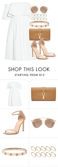 """Style #10242"" by vany-alvarado ❤ liked on Polyvore featuring Paper London, Yves Saint Laurent, Stuart Weitzman, Christian Dior and ASOS"