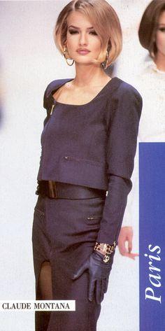 .Karen Mulder: Claude Montana, 1992'