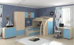 Детская мебель - МОНОБЛОКИ | Кровать ТЕРЕМОК, Кровать СОНЯ, Кровать М-85. :: Детская мебель Соня-1 + Соня-2 + Соня-3. Выбираем цвет!