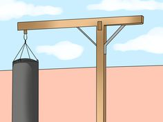 How to Make a Punching Bag Stand. Large punching bags need to be suspended from some type of structure in order for them to take punches and move as they're designed to do. If you'd rather not purchase a punching bag stand, you can make. Home Made Gym, Diy Home Gym, Gym Room At Home, Boxing Routine, Boxing Training Workout, Heavy Bag Stand, Fight Gym, Diy Greenhouse Plans, Backyard Gym