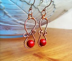 Hey, I found this really awesome Etsy listing at https://www.etsy.com/listing/176877456/wire-wrapped-earrings-hammered-copper