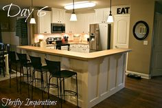 Thrifty Inspirations: Painted Kitchen Cabinets - Before and After: Transforming a Dark Kitchen with a DIY Cabinet Makeover Kit