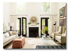 {via Pure Style Home. Benjamin Moore Seashell on the walls. Interiors by Lauren Liess}
