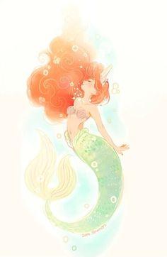 Disney the little mermaid ariel disney princess princess ariel disney fan art Disney And More, Disney Love, Disney Magic, Ariel Disney, Ariel Ariel, Goth Disney, Disney And Dreamworks, Disney Pixar, Disney Characters