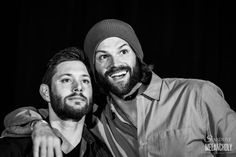 "stardustandmelancholy: "" Jensen Ackles and Jared Padalecki, Sunday, Salute to Supernatural Phoenix 2016 Photography by Stardust & Melancholy """