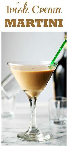 Irish Cream Martini - A splash of vodka, some strong espresso, and a good dose of Irish Cream create this rich and so delicious Irish Martini.
