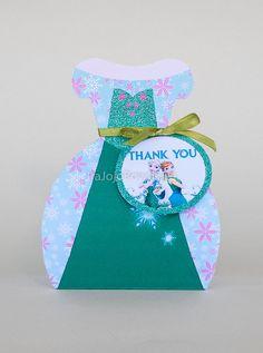 ELSA Frozen Fever Gift Box Favor Box Printable by IraJoJoBowtique