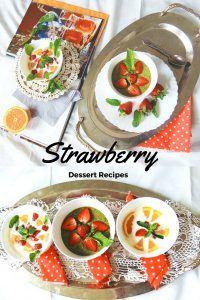 Strawberry Dessert Recipes DESER TRUSKAWKOWY Jeżeli zależy Wam na szybkim przygotowaniu czegoś sympatycznego z truskawek, mam dla Was szybki przepis. Porcja dla 4 osób. Potrzebne nam będą:      600 g truskawek,     1 pomarańcza,     liście mięty,     4 jogurty naturalne,     2 łyżki syropu z agawy.