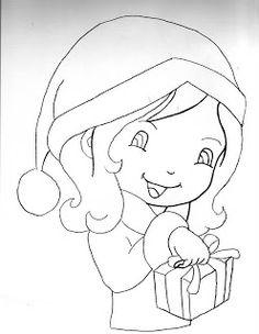 artesanato com quelli: risco de boneca para pintar em panos de prato