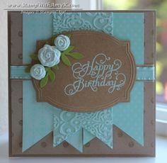 SU Beautiful Birthday, Distressed Dots, Pop Up Posies designer kit