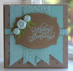 SU Beautiful Birthday, Distressed Dots, Pop Up Posies designer kit