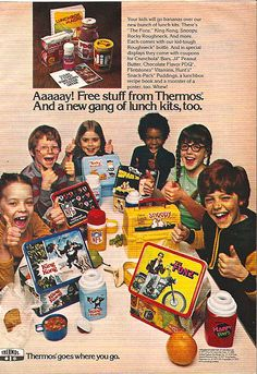 Great lunch box ad…(1977). I remember I really liked the Snoopy lunchbox.