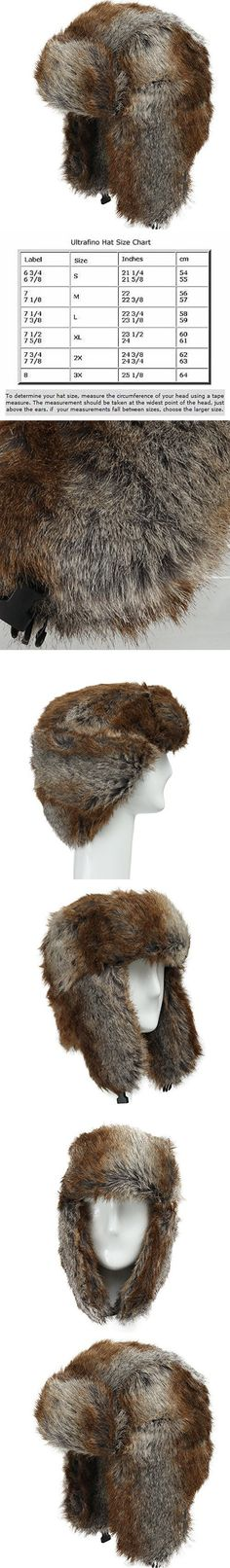 Explorer Ushanka Winter Trapper Faux Fur Pilot Hat with Ear Flaps CHOCOLATE 7