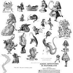 Alice in Wonderland photoshop brushes
