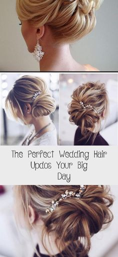 The Perfect Wedding Hair Updos your Big Day Messy Wedding Hair Updos For Rustic Wedding Messy Wedding Hair, Wedding Updo, Bridal Hair, Down Hairstyles, Wedding Hairstyles, Braid Styles, Cut And Style, Celebrity Weddings, Hair Trends