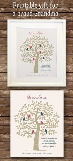Your place to buy and sell all things handmade Family Tree Print, Family Trees, Nana Grandma, Grandma Gifts, Personalised Family Tree, Personalized Gifts, Parent Gifts, Family Gifts, Grandparents Christmas Gifts