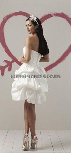 7bcfc05ae4a8 Cheap Short Taffeta Strapless Summer Funky Wedding Dress with Short Pick Up  Skirt on Sale! Buy Short Taffeta Strapless Summer Funky Wedding Dress with  Short ...