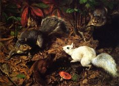 Squirrels by William Holbrook Beard (1823-1900)