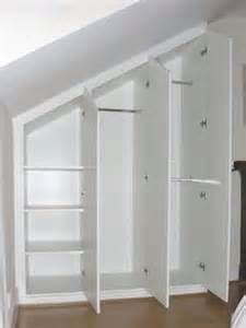 Closets with slanted ceilings