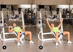 Oxygen Women's Fitness | Incline Bench Press