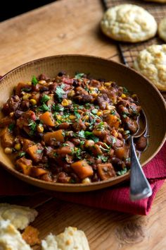 Mixed Bean Chili With Corn and Pumpkin