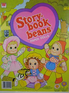 vintage paper doll book Storybook beans by innerchildbooks on Etsy, $12.00