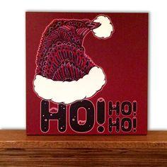 Christmas Canvas Art - Christmas Decor - Home Decor - Santa Claus - Santa Hat - Quote - Tribal Art - Drawing - Markers - Typography