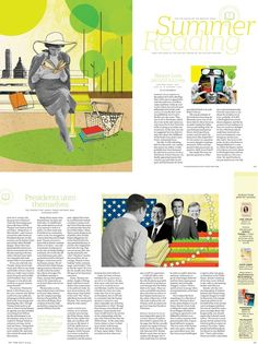 Katy Lemay did some nice colorful illustrations for Time Magazine.  Summer Reading , for the beach or bedside table .