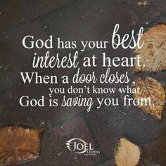 God has your best interest...