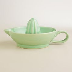 One of my favorite discoveries at WorldMarket.com: Green Ceramic Citrus Juicer