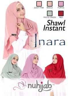 IDR. 99.000 Bahan: Sifon Bubble Crepe, Panjang: 180cm, Lebar :75cm, Lingkar bagian wajah: 54cm, Model Hijab: Shawl Instant, Moment : Elegant