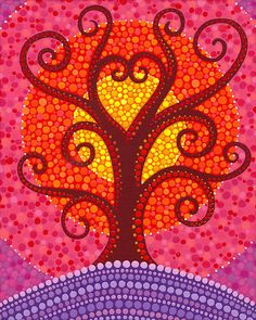 Heart Energy Radiating Tree by Elspeth McLean Nature is a beautiful reflection of our inner self. This tree is radiating the love we can all find within ourselves. Original acrylic on canvas, 2011