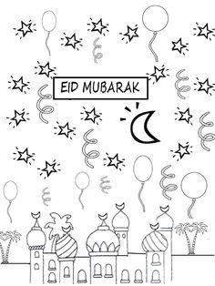 coloring page Eid Mubarak